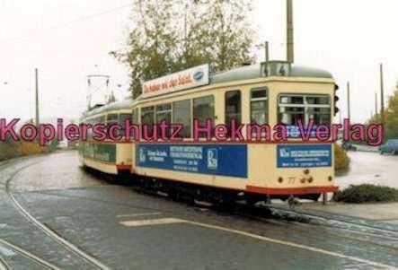 Kiel Straßenbahn - Linie 4 -Wagen Nr. 261 und Wagen Nr. 77