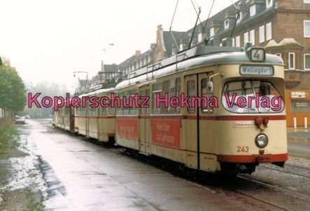 Kiel Straßenbahn - Linie 4 - Wellingdorf - Wagen Nr. 243