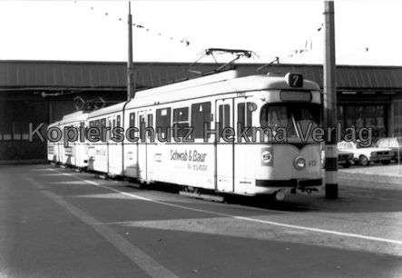 Mannheim Straßenbahn - Freiluftdepot Lutzenberg - Linie 7 - Wagen Nr. 413