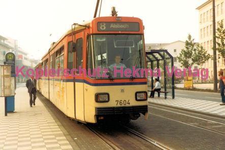 Darmstadt Straßenbahn - Langer Ludwig - Linie 8 Wagen Nr. 7604 - Bild 1