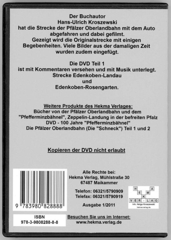 DVD - Die Pfälzer Oberlandbahn Teil 1
