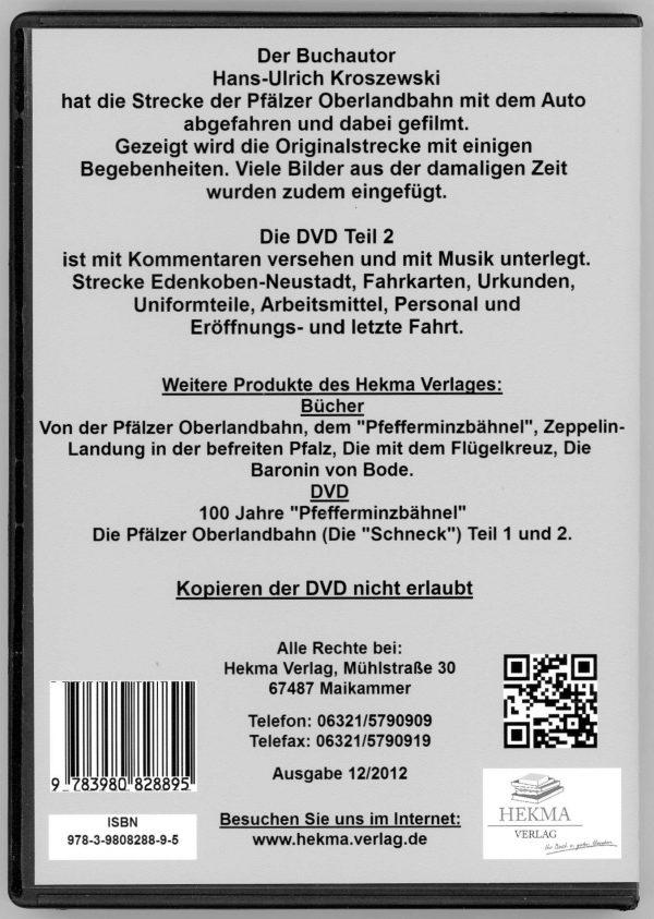 DVD - Die Pfälzer Oberlandbahn Teil 2