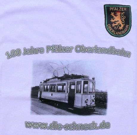 T-Shirt - 100 Jahre Pfälzer Oberlandbahn