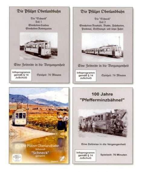 """Vier DVDs - """"Pfefferminzbähnel"""" und """"Schneck"""" 1 und 2 und Version Museum Edenkoben"""