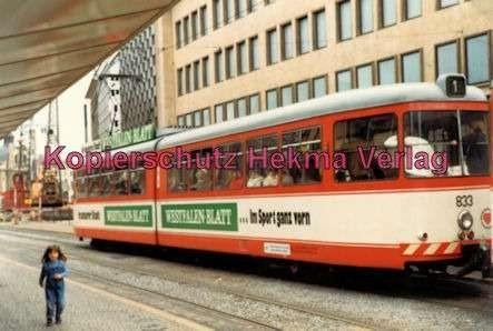 Bielefeld Straßenbahn - Linie 1 - Wagen Nr. 833