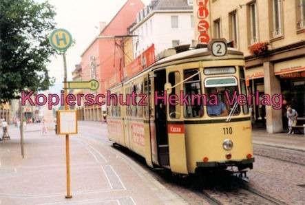 Freiburg Straßenbahn - Linie 2 - Wagen Nr. 110 - Bild 4