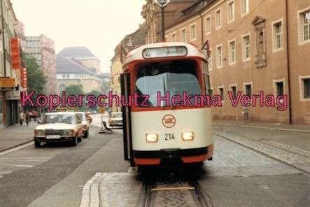 Freiburg Straßenbahn - Linie 4 - Wagen Nr. 214