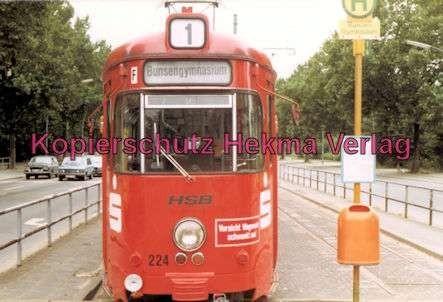 Heidelberg Straßenbahn - Haltestelle Bunsen-Gymnasium - Linie 1 - Wagen Nr. 224