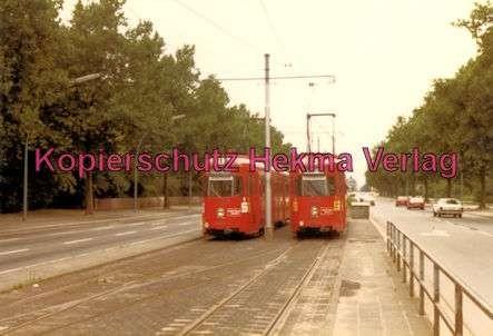 Heidelberg Straßenbahn - Haltestelle Bunsen-Gymnasium - Linie 1 und Linie 4 - Wagen