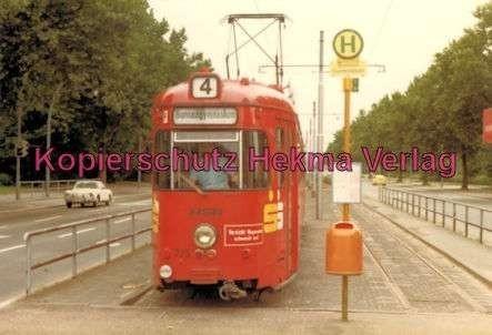Heidelberg Straßenbahn - Haltestelle Bunsen-Gymnasium - Linie 4 - Wagen Nr. 225 - 2