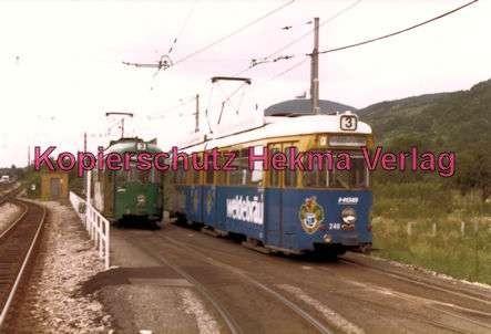 Heidelberg Straßenbahn - Handschuhsheim - zwei Wagen der Linie 3