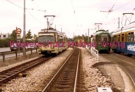 Heidelberg Straßenbahn - Handschuhsheim - OEG Wagen Nr. 109 und Wagen der Linie 3