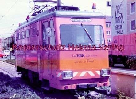 Karlsruhe Straßenbahn - Arbeitswagen Nr. 99 - Schleifdienst - Bild 1