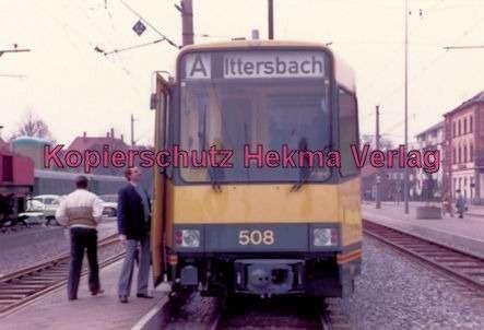 Karlsruhe Straßenbahn - Ettlingen-Stadt - Wagen Nr. 508