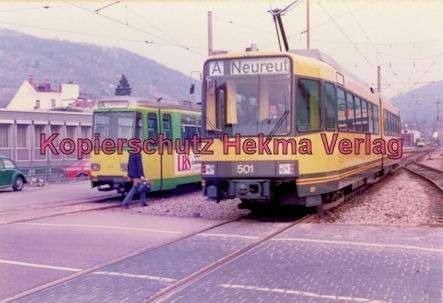 Karlsruhe Straßenbahn - Ettlingen-Stadt - Wagen Nr. 501