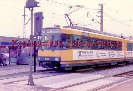 Karlsruhe Straßenbahn - Ettlingen-Stadt - Triebwagen Nr. 504 - Bild 1