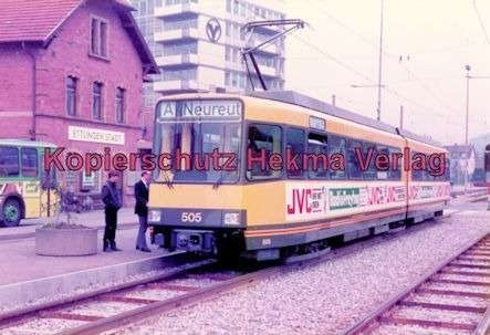 Karlsruhe Straßenbahn - Ettlingen-Stadt - Wagen Nr. 505