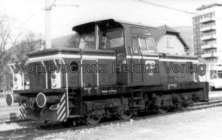 Karlsruhe Albtalbahn - Ettlingen Stadtbahnhof - Diesellok Nr. 62