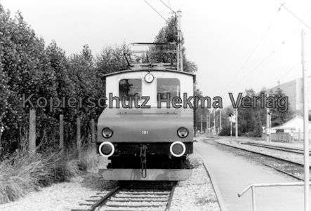 Karlsruhe Albtalbahn - Lok Nr. 101