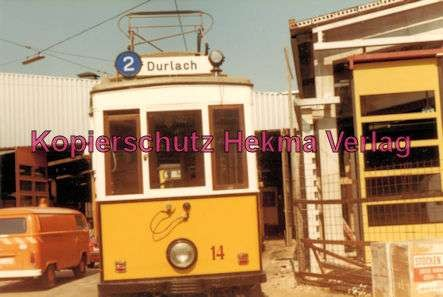 Karlsruhe Straßenbahn - Wagen Nr. 14 - Baujahr 1899 - Herbrand/Köln - 1