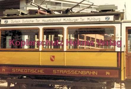 Karlsruhe Straßenbahn - Wagen Nr. 14 - Baujahr 1899 - Herbrand/Köln - 3