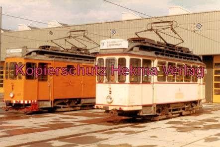 Karlsruhe Straßenbahn - Depot West - Tw. Nr. 407 und Tw. Nr. 92 - 1