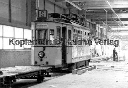 Kassel Straßenbahn - Depot Wilhelmshöhe - Sonderwagen Nr. 218