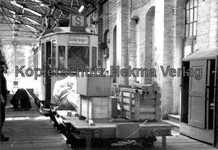 Kassel Straßenbahn - Depot Wilhelmshöhe - Sonderwagen Nr. 218 mit Arbeitswagen
