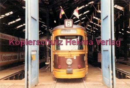 Kassel Straßenbahn - Linie 6 - Wagen in der Wagenhalle