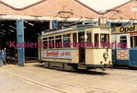 Kassel Straßenbahn - Sonderwagen Nr. 218 vor der Wagenhalle