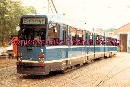 Kassel Straßenbahn - Sonderwagen Nr. 401 vor der Wagenhalle