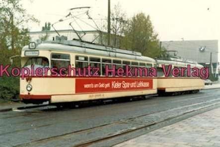 Kiel Straßenbahn - Linie 4 - Wagen Nr. 243 und Wagen
