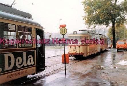 Kiel Straßenbahn - Linie 4 - Endstation Holtenau-Fähre, Triebwagen und Beiwagen