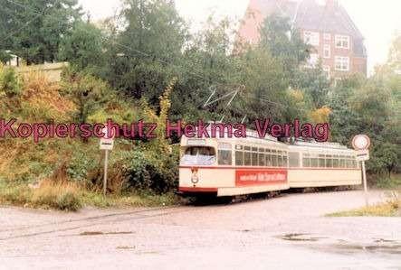 Kiel Straßenbahn - Linie 4 - Endstation Holtenau-Fähre, Wagen Nr. 243 mit Beiwagen