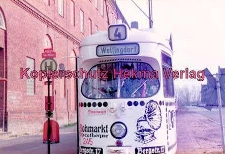 Kiel Straßenbahn - Endstation Holtenau - Linie 4 - Wagen Nr. 245 - Bild 3