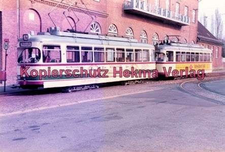 Kiel Straßenbahn - Endstation Holtenau - Linie 4 - Wagenzug