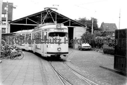 Krefeld Straßenbahn - Hauptdepot - Linie 44 - Wagen Nr. 602