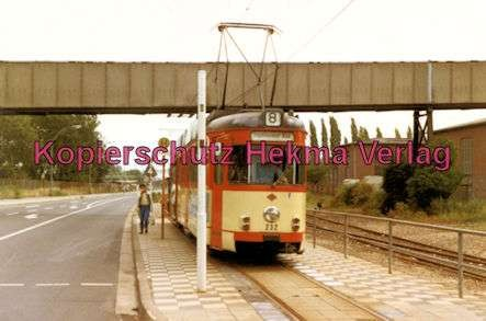 Mainz Straßenbahn - Linie 8 - Wagen Nr. 232 - Bild 1