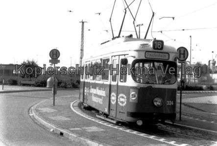 Mannheim Straßenbahn - Linie 16 - Wagen Nr. 324