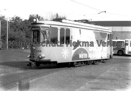 Mannheim Straßenbahn - Freiluftdepot Lutzenberg - Wagen Nr. 1309