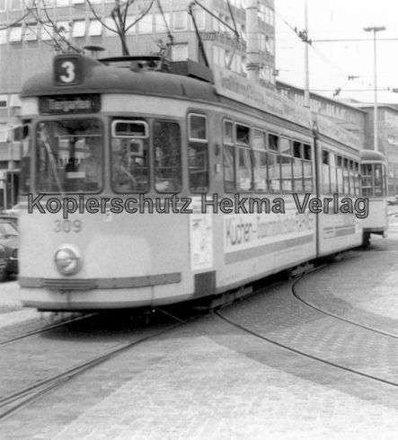 Nürnberg Straßenbahn - Haltestelle Plärrer - Linie 3 Wagen Nr. 309