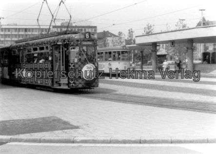 Nürnberg Straßenbahn - Haltestelle Plärrer - Linie 6 Wagen Nr. 344 - 2