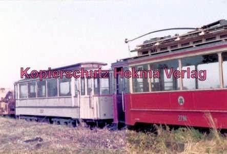 Schönberger Strand - Museumsbahnhof - Wagen Nr. 3522 und Nr. 2734