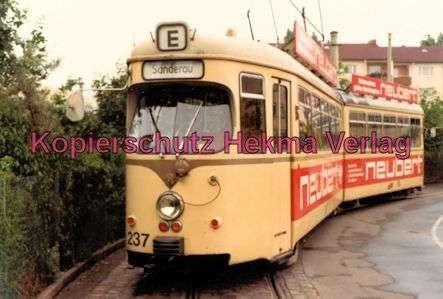 Würzburg Straßenbahn - Linie E Wagen Nr. 237