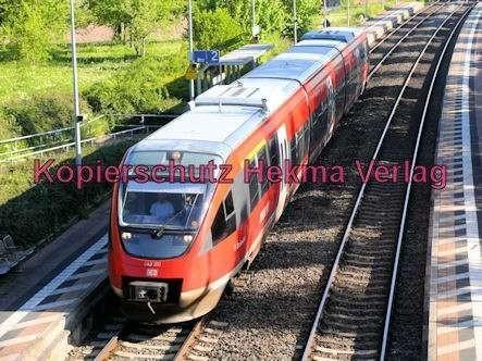 Bundesbahn - Bahnhaltepunkt Steinweiler - RB 51 - Wagen Nr. 843 511 - Bild 1
