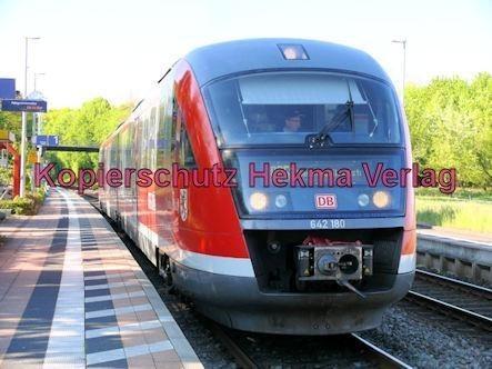 Bundesbahn - Bahnhaltepunkt Steinweiler - RB 51 - Wagen Nr. 642 180