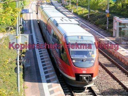 Bundesbahn - Bahnhaltepunkt Steinweiler - RB 51 - Wagen Nr. 643 004