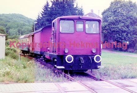 Birkenfeld (Nahe) Eisenbahn -Diesellok und Packwagen - Bild 2