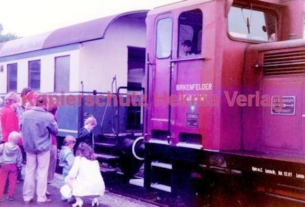 Birkenfeld (Nahe) Eisenbahn -Diesellok und Packwagen - Bild 4