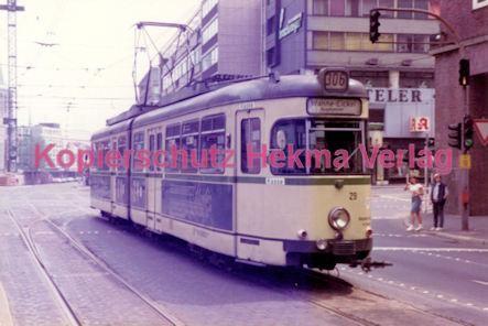 Bochum Straßenbahn - Rathausplatz - Linie 302 Wagen Nr. 29 - Bild 1